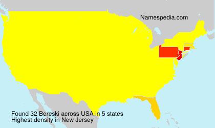Surname Bereski in USA