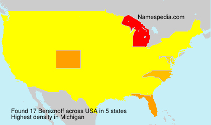 Surname Bereznoff in USA