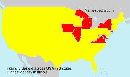 Surname Berfeld in USA