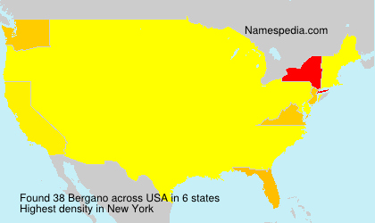 Surname Bergano in USA