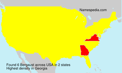 Surname Bergaust in USA