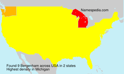 Surname Bergenham in USA