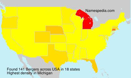 Familiennamen Bergers - USA