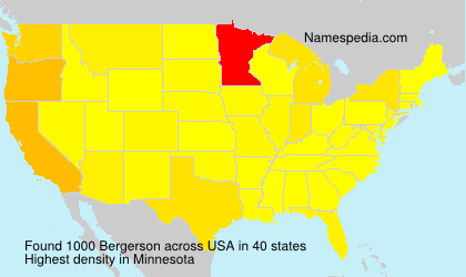 Surname Bergerson in USA
