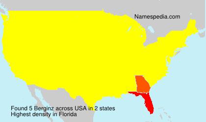 Familiennamen Berginz - USA