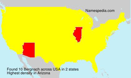Surname Bergnach in USA
