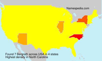 Surname Bergrath in USA