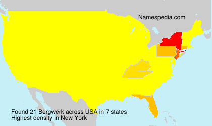 Surname Bergwerk in USA