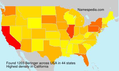 Surname Beringer in USA