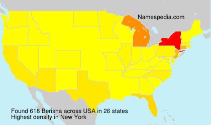 Familiennamen Berisha - USA