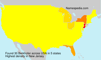 Surname Berkhofer in USA