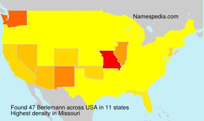 Familiennamen Berlemann - USA