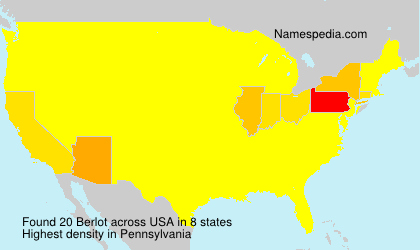Surname Berlot in USA