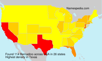Surname Bernadino in USA