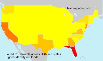 Familiennamen Bernaola - USA
