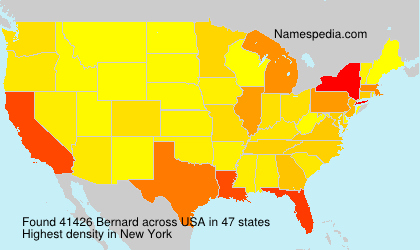 Surname Bernard in USA