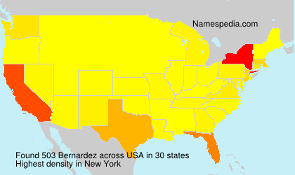 Surname Bernardez in USA
