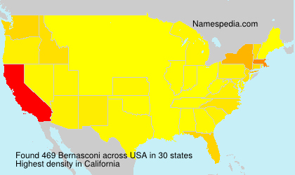 Familiennamen Bernasconi - USA