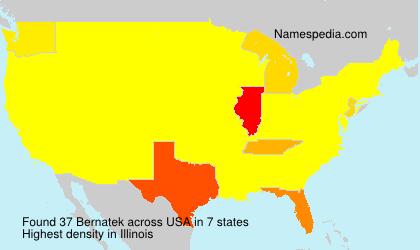 Familiennamen Bernatek - USA