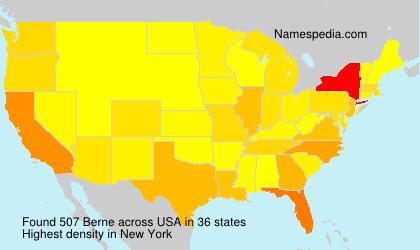 Surname Berne in USA