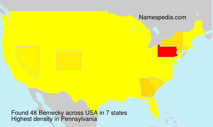 Surname Bernecky in USA