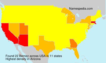 Surname Bernez in USA
