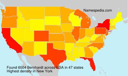 Surname Bernhardt in USA