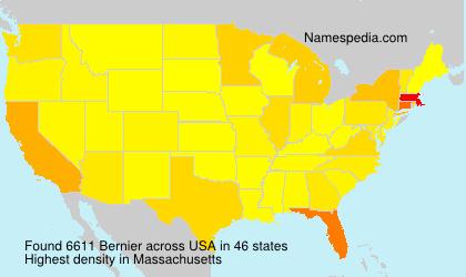 Familiennamen Bernier - USA