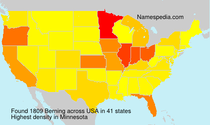 Surname Berning in USA