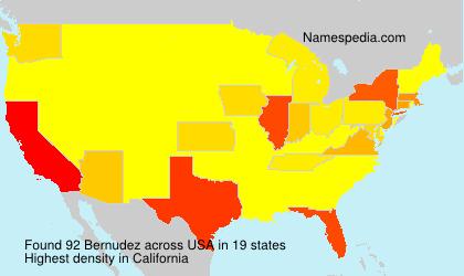 Familiennamen Bernudez - USA