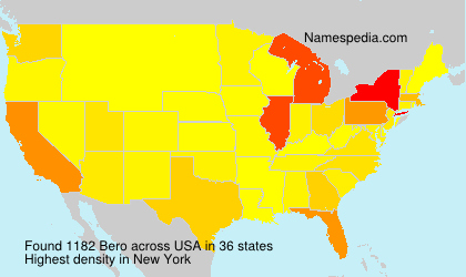 Surname Bero in USA