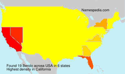 Surname Berolo in USA