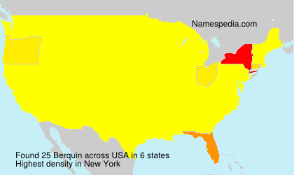 Surname Berquin in USA