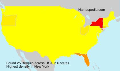 Surname Berquin in USA