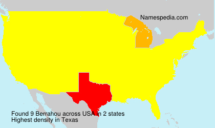 Familiennamen Berrahou - USA