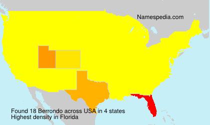 Surname Berrondo in USA