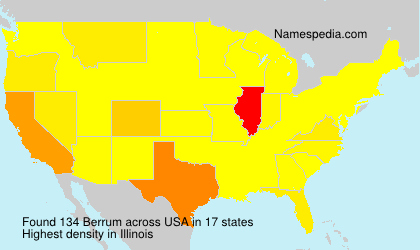 Surname Berrum in USA