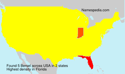 Surname Bersel in USA