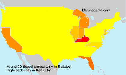 Surname Bersot in USA