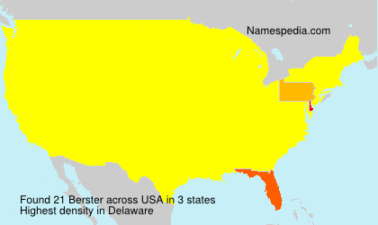 Surname Berster in USA