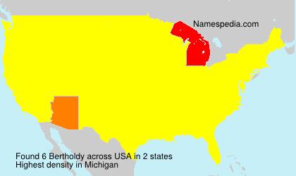 Familiennamen Bertholdy - USA