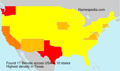 Surname Berude in USA
