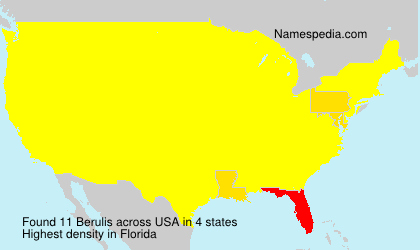 Surname Berulis in USA