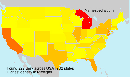 Surname Bery in USA