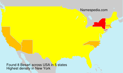 Surname Besart in USA