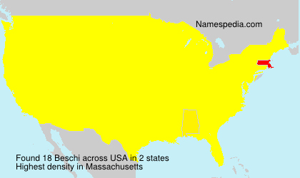 Surname Beschi in USA