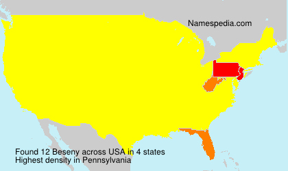 Surname Beseny in USA