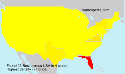 Surname Besil in USA