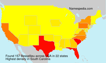 Surname Bessellieu in USA