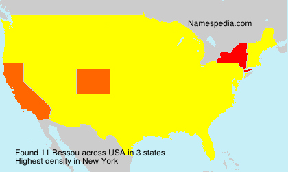 Surname Bessou in USA
